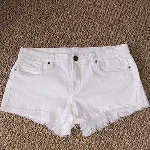 BLANK NYC White Jean Shorts